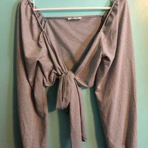 Zara Tie Front Crop Top